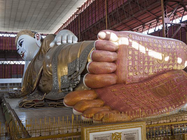 Ležiaci Budha, Rangún, Mjanmarsko