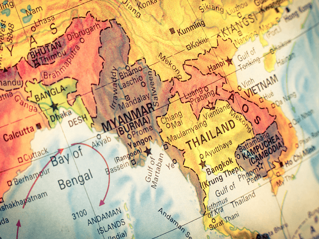 Mapa Mjanmarska